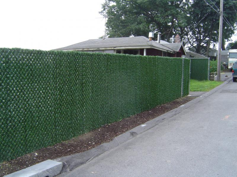 Galvanized Chain Link Fence, Hedge Slats